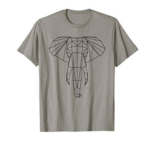 Geometrischer Elefant T-Shirt