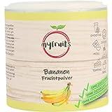 myfruits® Bananenpulver - ohne Zusätze, zu 100% aus Bananen, gefriergetrocknet, Fruchtpulver für Smoothie, Shakes & Joghurt (70g)
