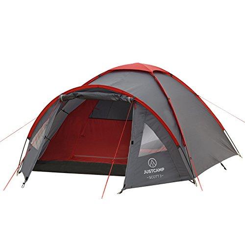 Kuppelzelt Justcamp Scott 3, Campingzelt...