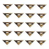 NBECOM 20 Buchecken aus Metall, Bronze Optik, Buchbeschlag, Schutzecken, Bronzefarben, 23 x 17 x 4 mm