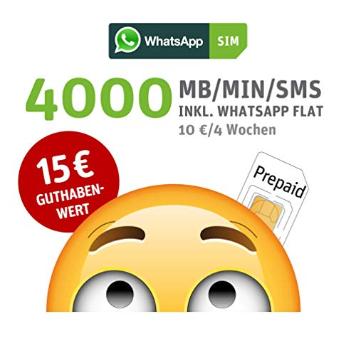 WhatsApp SIM Prepaid [SIM, Micro-SIM,...