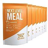 Runtime Next Level Meal Mango - vollwertiger Mahlzeitersatz für langanhaltende Sättigung, Energie, Konzentration und Leistungsfähigkeit, mit Vitaminen und Nährstoffen, 7 x 150g