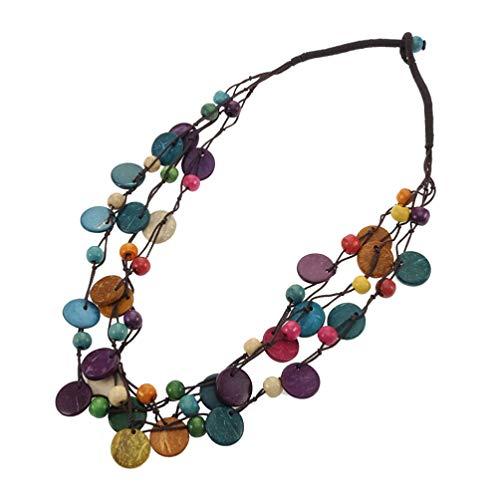 KESYOO Böhmische Halskette Mehrreihige...