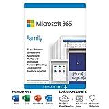 Microsoft 365 Family   6 Nutzer   Mehrere PCs/Macs, Tablets und mobile Geräte   1 Jahresabonnement   Download Code