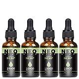 4 Pack Höchste Qualität Hanföl mit natürlichen Zutaten, Hanfsamenöl reich an Omega 3+6 Fettsäuren, Vitaminen und Mineralie