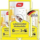 PIC Lebensmittel-Mottenfalle - Dreierpack = 6 Stück - Mittel zur Bekämpfung von Motten in der Küche und Lagerräumen