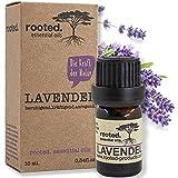 rooted.® - 10ml Lavendelöl -100% naturreines ätherisches Lavendelöl (Lavandula Angustifolia) - EU Erzeugnis - natürliches Öl für Naturkosmetik, Raumdiffuser, Duftkerzen und -Seifen (Lavendelöl)