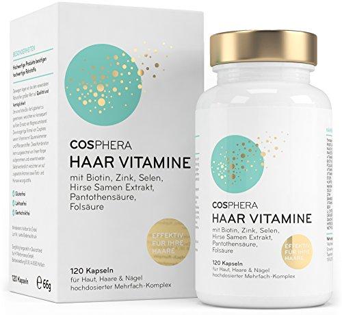 Cosphera Haar-Vitamine - Hochdosiert mit...