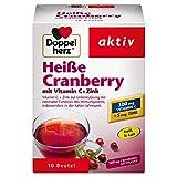 Doppelherz Heiße Cranberry – Vitamin C und Zink zur Unterstützung der normalen Funktion des Immunsystems – 10 Beutel