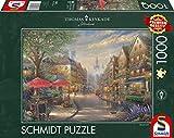 Schmidt Spiele 59675 Thomas Kinkade, Cafe in München, 1.000 Teile Puzzle, Bunt