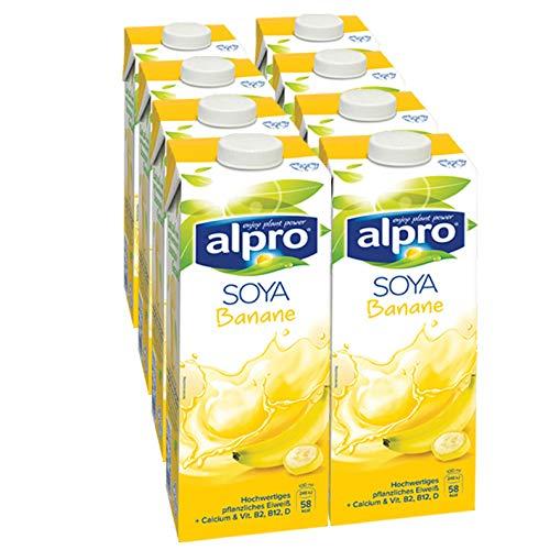 Alpro Sojadrink Banane, 1 Liter, 8er...