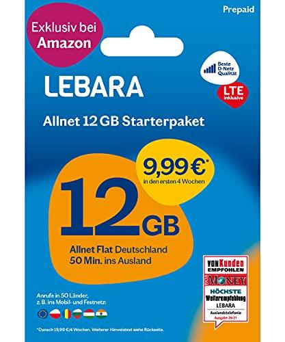 LEBARA Mobile Prepaid SIM Karte ohne...