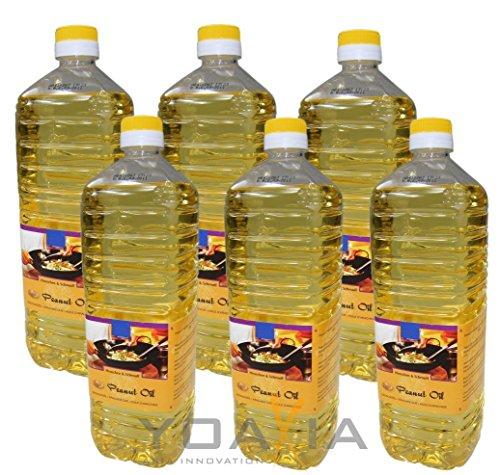 6er Pack 100% Erdnuss-Öl [6x 1000ml]...