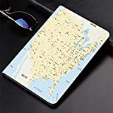 Hülle für iPad (24.638, Modell 2018/2017, 6./5. Generation) Ultra Slim Lightweight Smart Cover, Karte, USA Interstate Map America Städte Reiseziele Road Ro, Smart Covers Auto Wake / Sleep