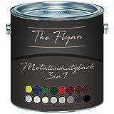 The Flynn Metallschutzfarbe 3 in 1 hochwertiger 3-in-1 Metallschutzlack Lack für Metall Eisen Aluminium Zink Stahl Rostschutz Grundierung Deckanstrich (1 L, Anthrazitgrau (RAL 7016))
