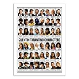 Wall Editions Art-Poster - Quentin Tarantino Characters - Olivier Bourdereau