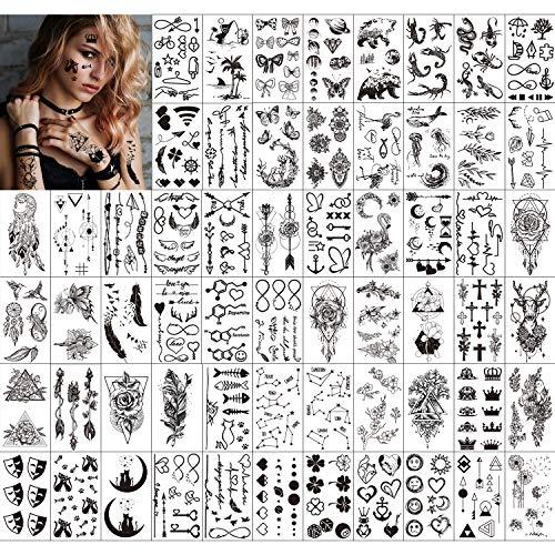Qpout Temporäre Tattoos für Erwachsene...