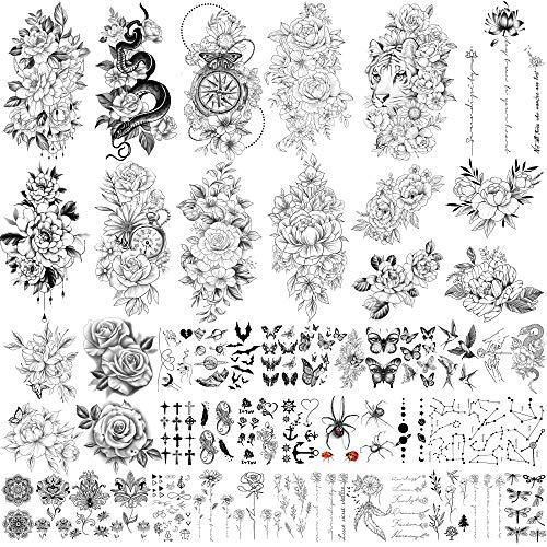 Yazhiji 49 Blatt große Blumen Sammlung...