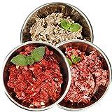 Barf Hundefutter Sparpaket Rind-Mix 28kg rohes Frostfutter mit Rindfleisch aus Deutscher Weidehaltung für gesunde Hunde (28x 1.000g)