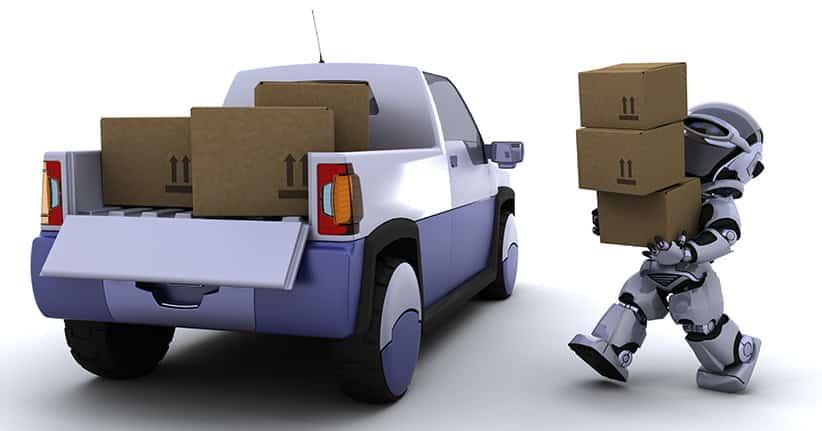 #Roboter stellen für #Hermes die Pakete zu