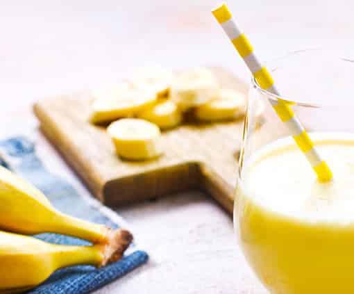 Bananenmilch zum Frühstück - immer eine leckere Idee
