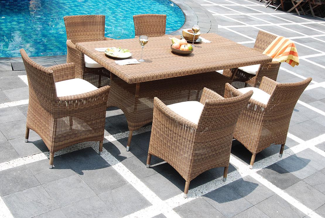 Gartenmöbel aus Rattan richtig pflegen und überwintern